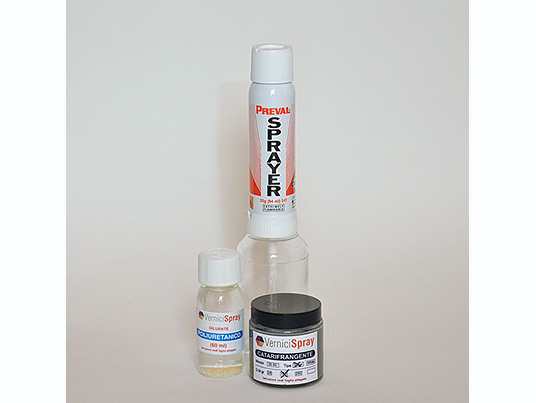 Kit Vernice Catarifrangente silver 100 gr con Spray Gun